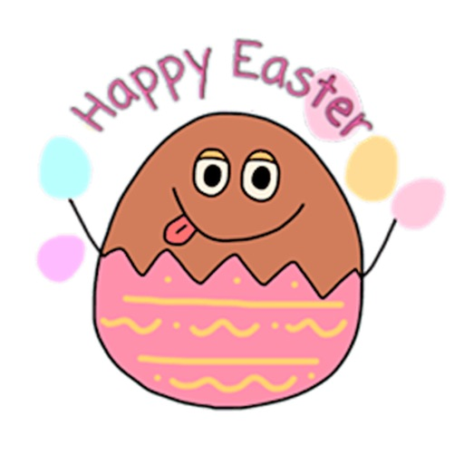Happy Easter Egg Emoji Sticker