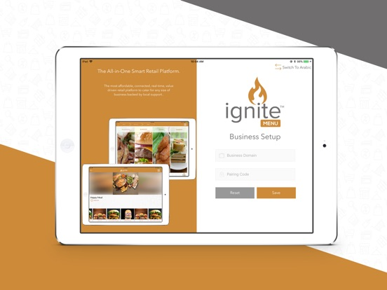 iPad Image of Ignite Menu