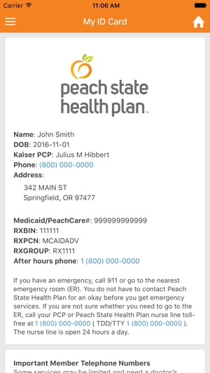 Peach State Health Plan On The App Store