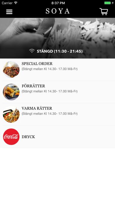 SOYA Restaurang Screenshot