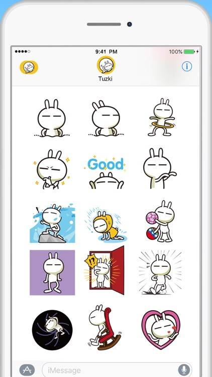 Tuzki Animated Sticker Pack screenshot-2