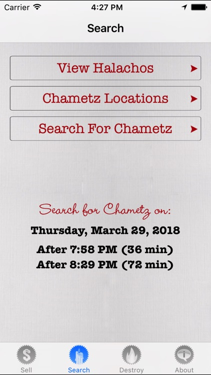 No Chametz
