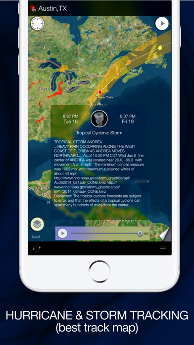Radar MAX: NOAA Weather radar på PC