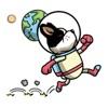 Adventure Space Dog Sticker