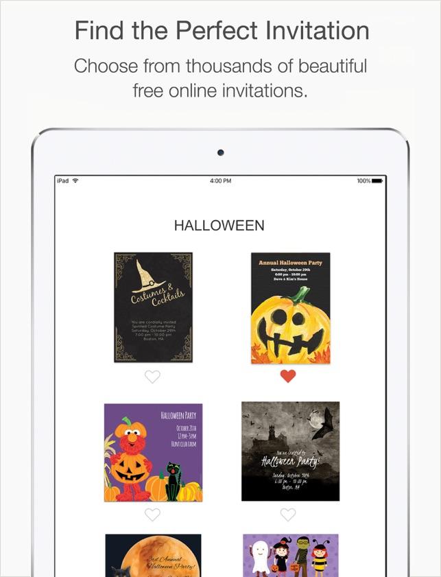 Punchbowl Online Invitations Dans LApp Store