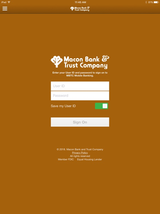 MBTC Mobile Banking for iPad