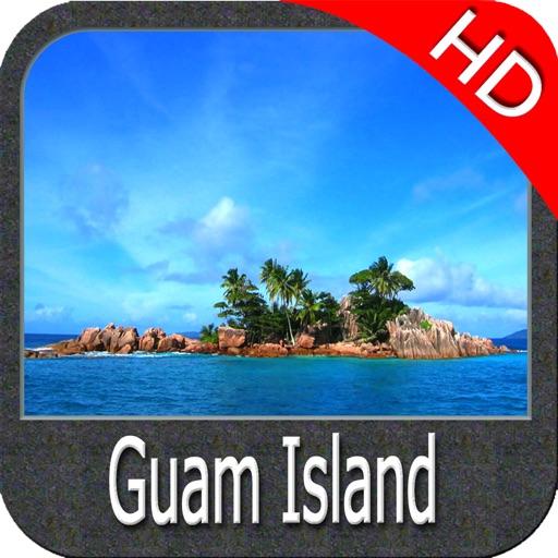 Marine : Guam island HD - GPS Map Navigator