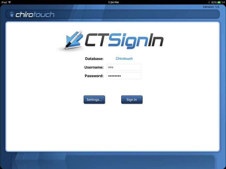 CT Sign-In Mobile 7.2