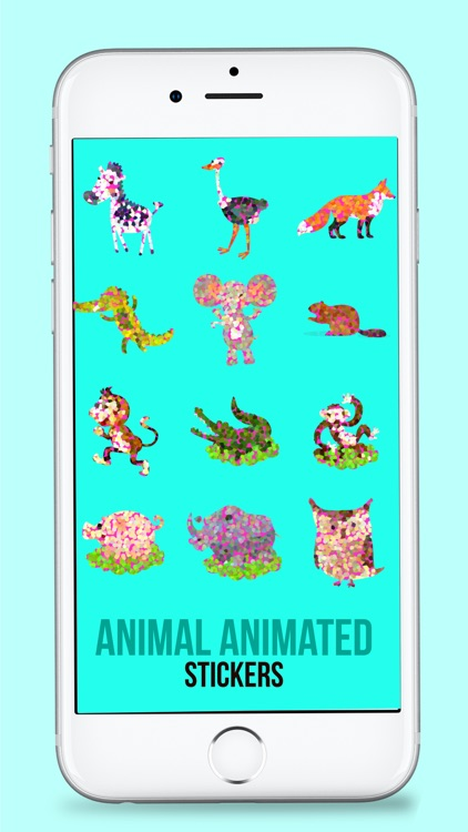 Animated Doted Animals Love Stickers screenshot-3