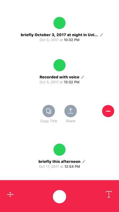 Record then Text Screenshots