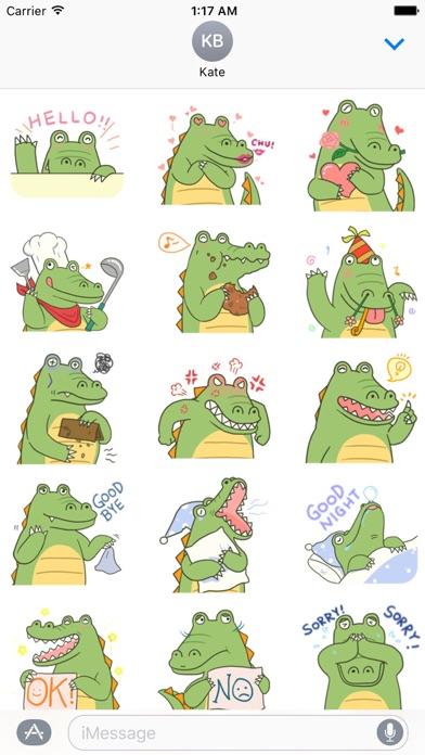 Cute Crocodile Emoji Sticker screenshot 1
