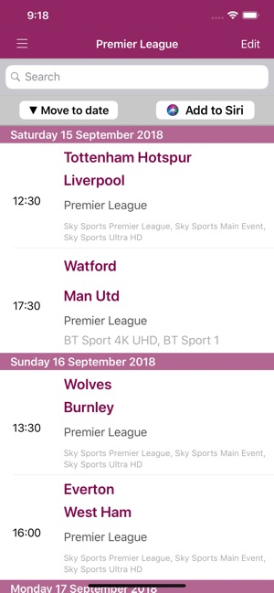 Live Football On TV on the App Store