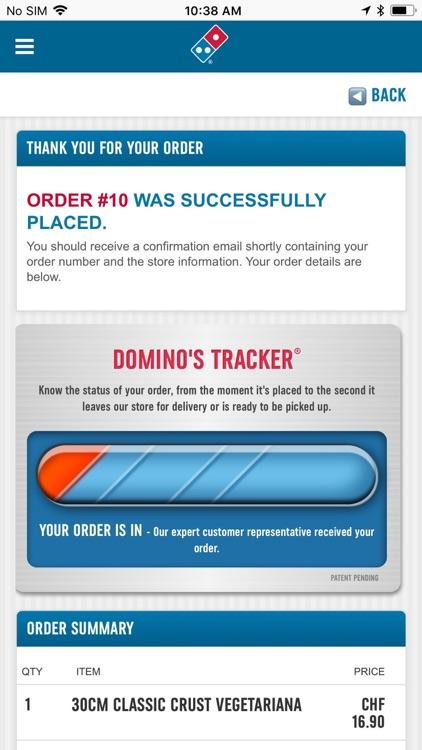 Domino's Pizza Switzerland screenshot-3