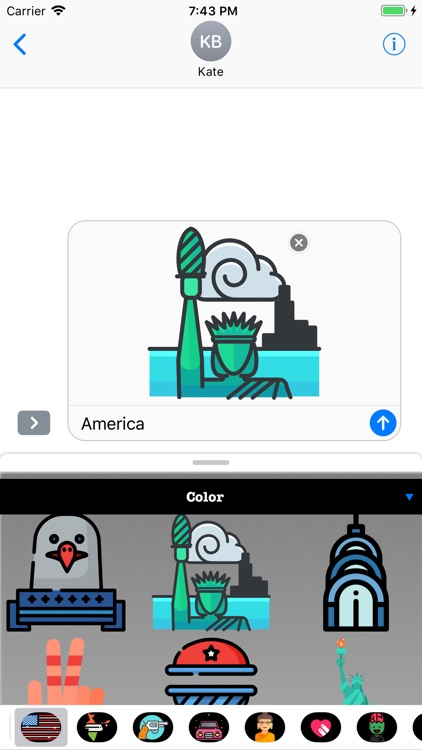 USA Stickers and Emojis