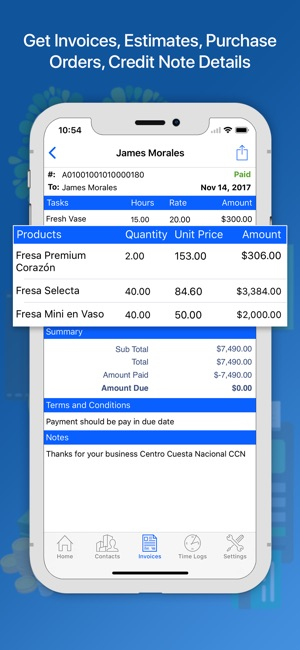 Moon Invoice Easy Invoicing On The App Store - Invoice to go prices