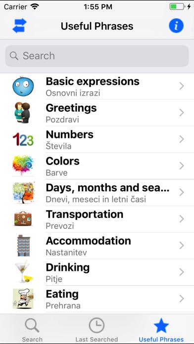 Eng Slo, Slo Eng dictionary screenshot three