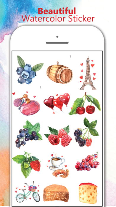 Watercolor Stickers Pack For iMessage