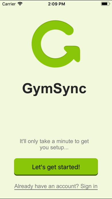 GymSync screenshot one