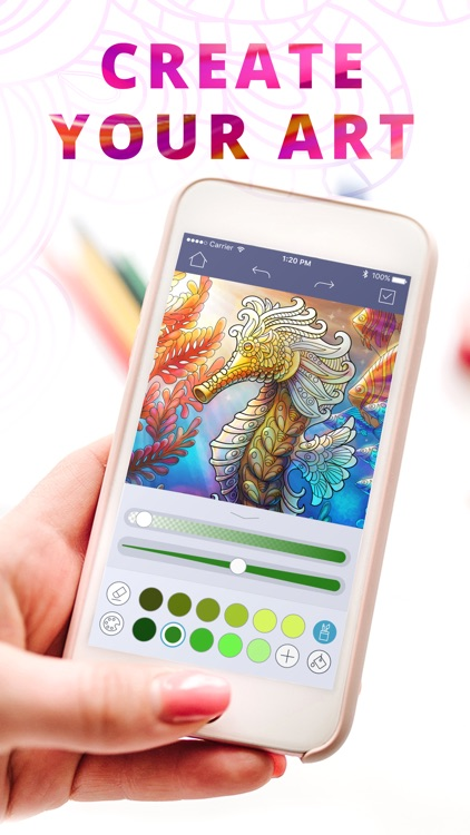 Coloring Top: Draw & Color In