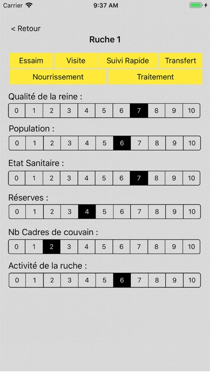 ApiDelice Gestion des Ruches