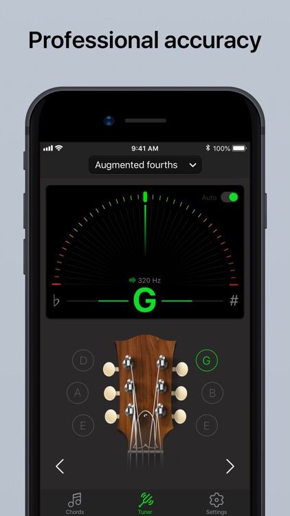 Guitar Tuner Pro, Bass,Ukulele screenshot-0