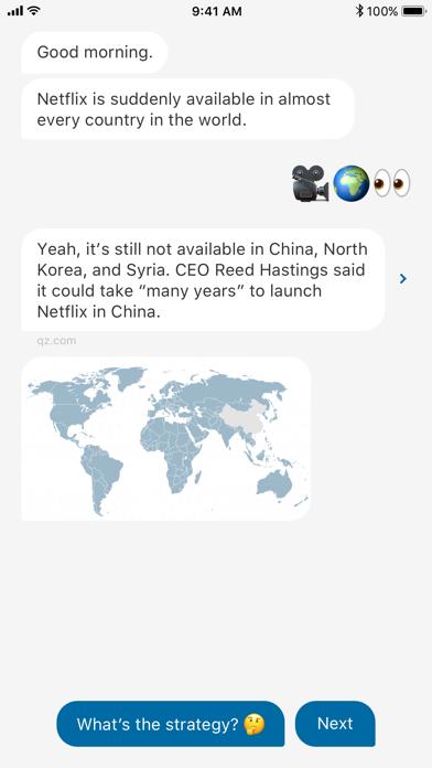 Screenshot 0 for Quartz's iPhone app'
