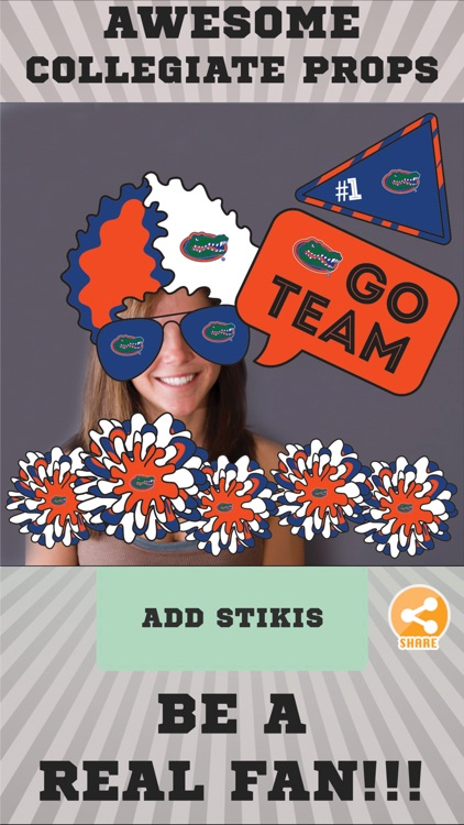 Florida Gators Selfie Stickers screenshot-1