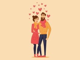 Animated Cute Couple Love