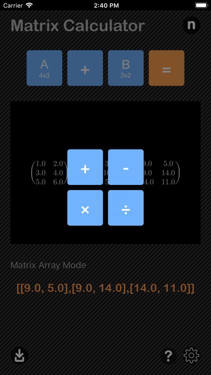 Matrix Calculator Nitrio