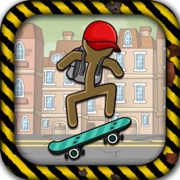 Stick-Man 2d Skate Boarding