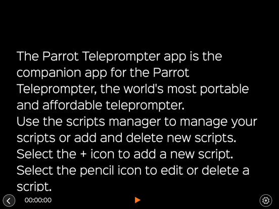 Parrot Teleprompter screenshot