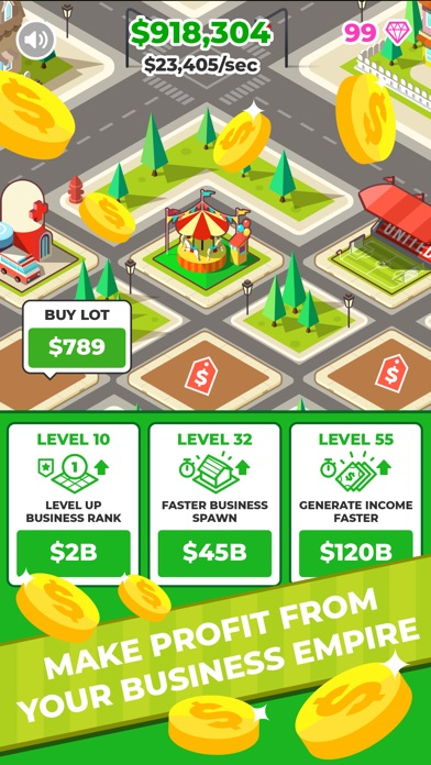 Screenshot for Billionaire, Inc. - Idle Merge in United States App Store