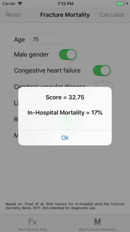 Hip Fracture Risk Calculator screenshot-3