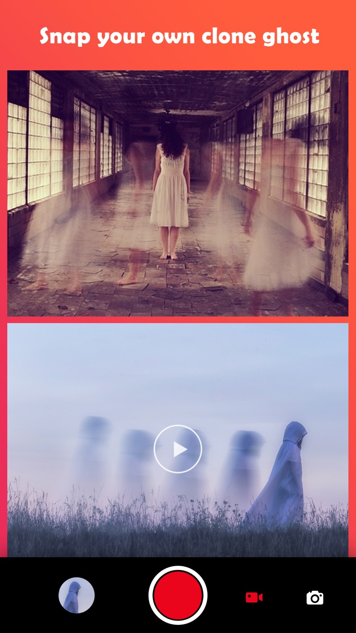 Ghost Lens AR Fun Video Editor Screenshot