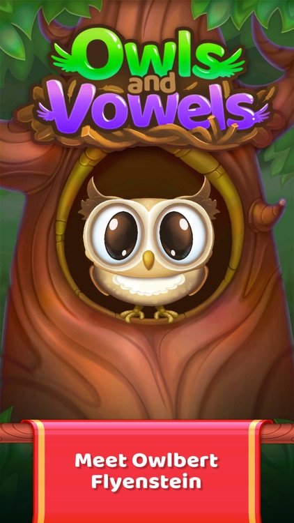 Owls and Vowels: Word Game screenshot-0