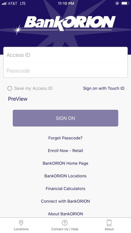BankORION Mobile
