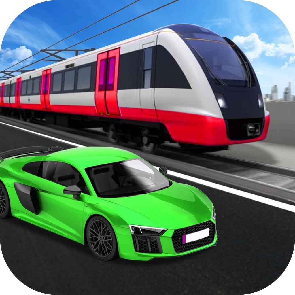 Car vs Train Race : Furious Car Racing hack
