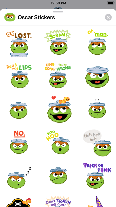 Oscar the Grouch Stickers screenshot one