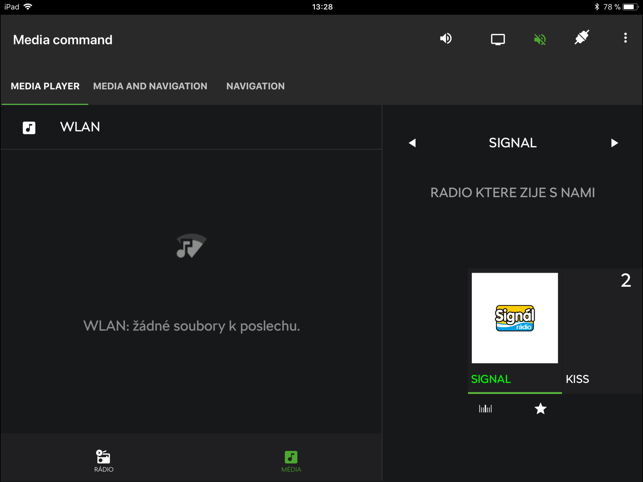 ‎Škoda Media Command Screenshot