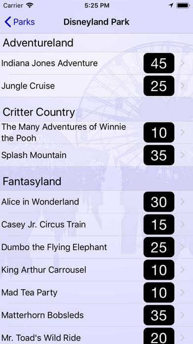 Wait Times for Disneyland Screenshot