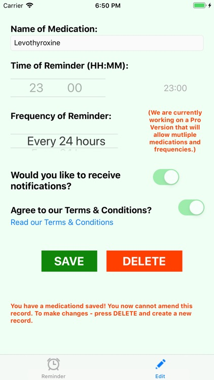 Pill & Tablet Reminder Alert