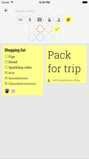 Google Keep – Notizen & Listen Screenshot