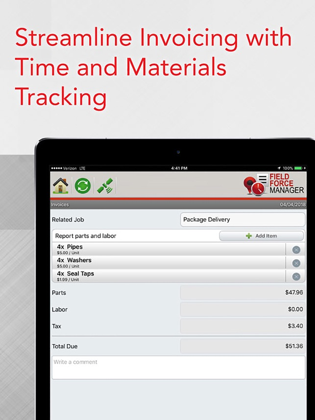 Verizon Field Force Manager On The App Store - Software to create invoices free download verizon online store