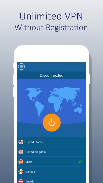 Screenshot for VPN For iPhone - Unlimited VPN in Egypt App Store