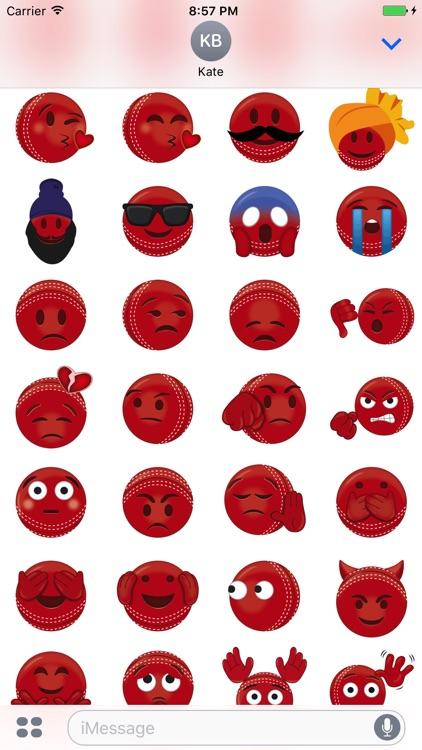 Cricket Ball Emoji - Stickers & Animations screenshot-3