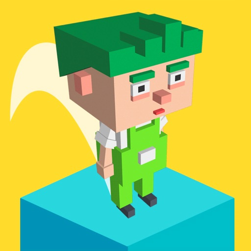 Jumping Block Guy iOS App
