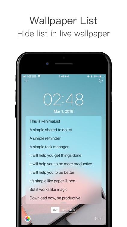 MinimaList - To do list & Task screenshot-7