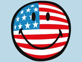 Smiley American Flags
