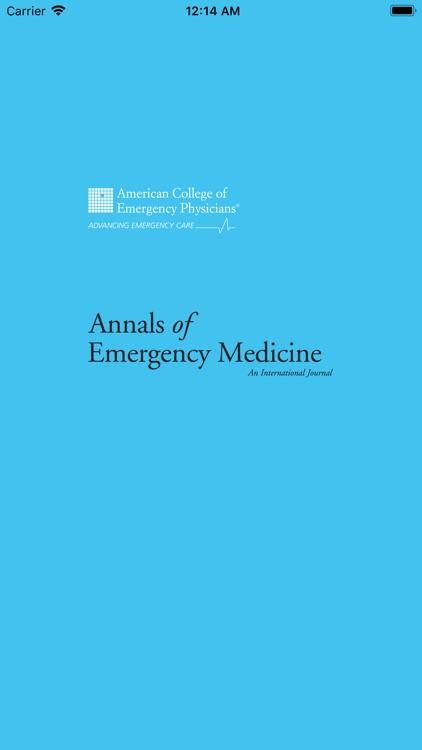 Annals of Emergency Medicine