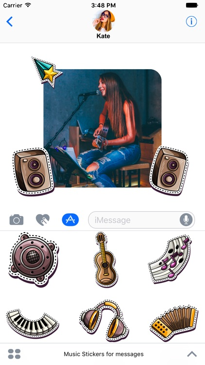 Music Stickers for messages